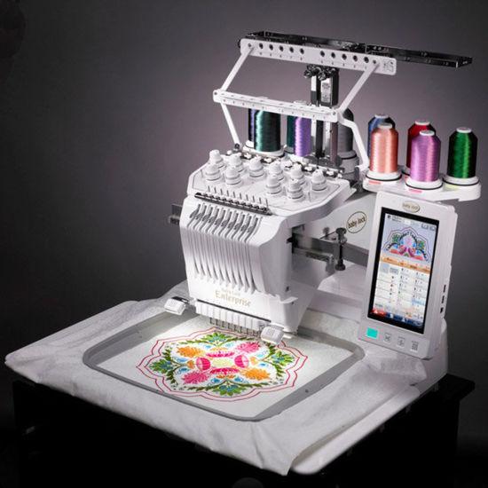 2018 Newest Single Head 6/9/12/15 Needles Computerized Embroidery Machine Price in China Similar as Tajima and Brother 1 Head Embroidery Machine