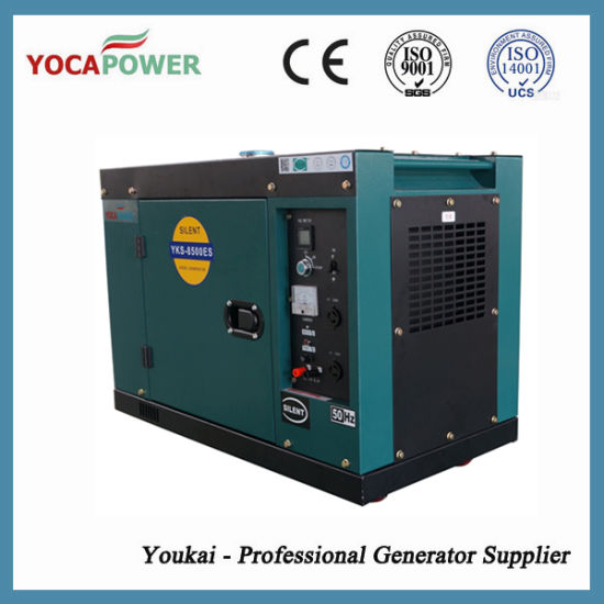 7kw Home Use Silent Type Air Cooled Small Engine Diesel Generator pictures & photos