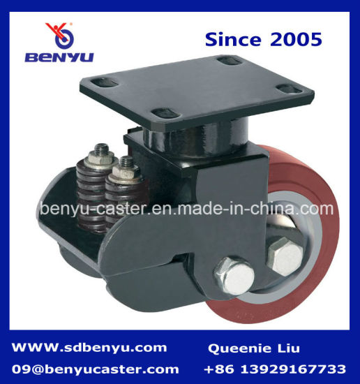 Extra Loading Caster with Spring Nylon Wheel