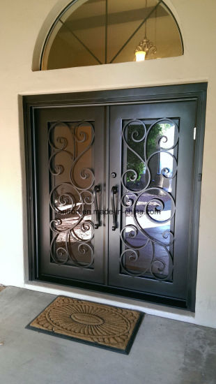 Clical Style Wrought Iron Entrance Double Door Front