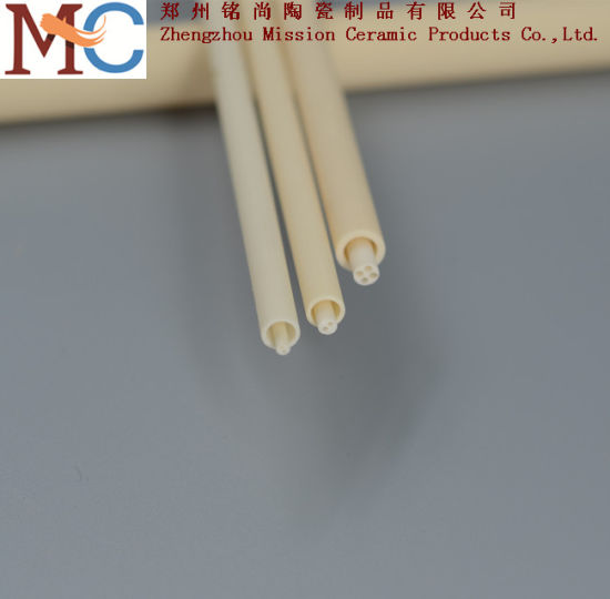 2 Holes Customized Al2O3 Ceramic Bushing Alumina Ceramic Tube pictures & photos