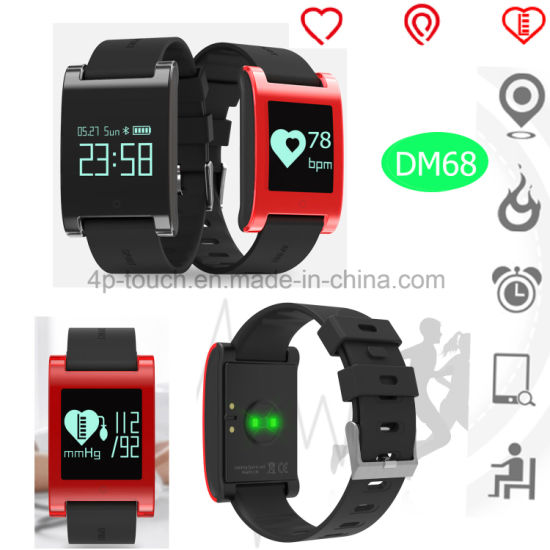 Waterproof Wristband Smart Silicone Bracelet with Health Monitor Dm68 pictures & photos