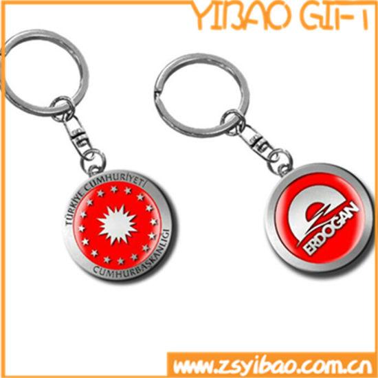 Custom Printing Logo Keychain with Resin Top (YB-KY-40)