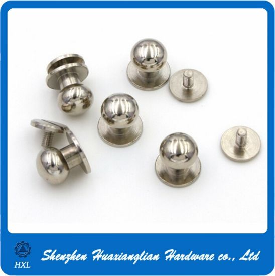 Brass/Stainless Round Head Solid Bail Rivet Handbag Screw pictures & photos