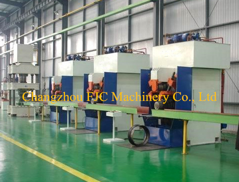Hydraulic Agricultural Tractor Tubeless Steel Wheels Making Machine Line by Rolling Type pictures & photos