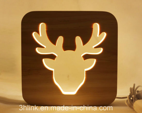Space Decoration Deer USB Table Lamp LED Baby Child Nursery Night Light Bedside Home Decor Lamp, Decor Night Lights for Kids and Adults pictures & photos