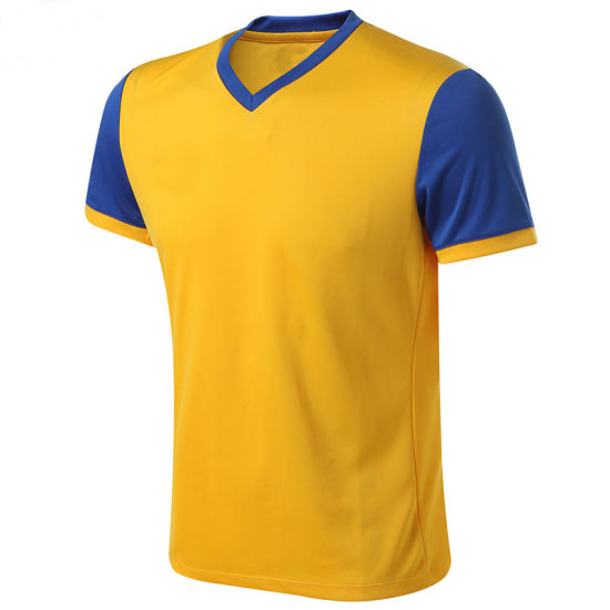 Factory Wholesale V-Neck Sports Jersey Soccer Shirt for Training