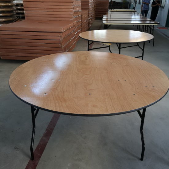 6FT Regular Round Plywood Folding Banquet Dining Table Furniture pictures & photos