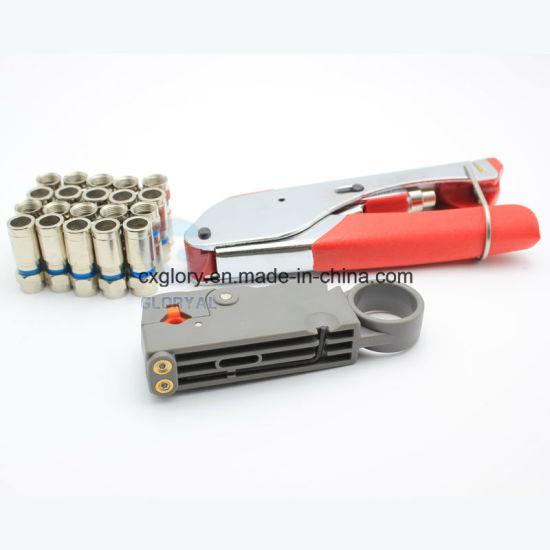 F-Connector Coaxial Cable Crimper RG6 RG59 Nretwork Cable Compression Tool