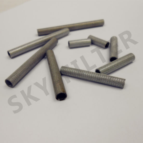 China 25 50 100 Micron Stainless Steel Woven Wire Mesh Tube - China ...