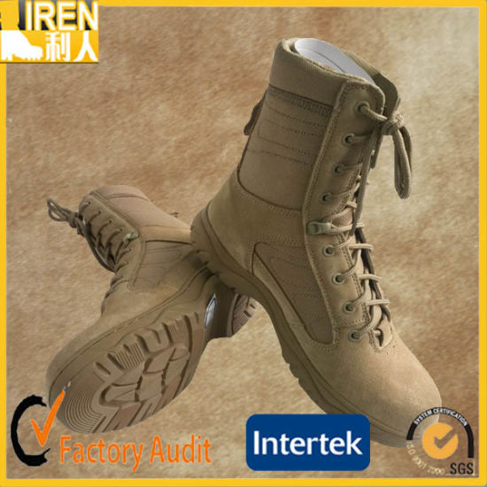 Top Quality Suede Cow Leather Cheap Military Tactical Desert Boot