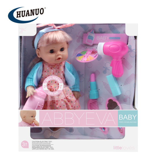 New 12 Inches Plastic Wholesale Cute Doll Toy for Baby
