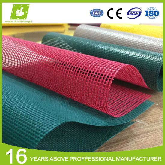 Factory Manufacturer Low Price Woven Vinyl Coated PVC Coated Polyester Mesh Fabric pictures & photos