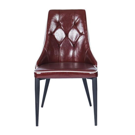 High Back Metal Design Dining Chair for Restaurant/Cafe/Hotel
