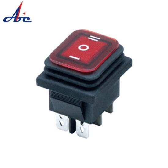 Kcd2-8203n-6 on off on 3 Position Dpdt Light Rocker Switch