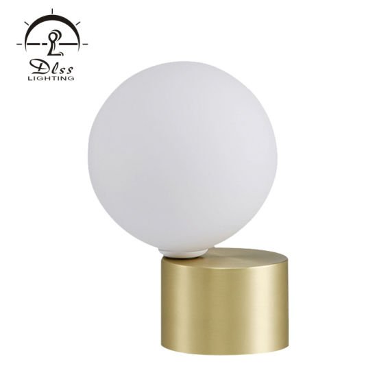 White Ball Table Lamp Modern Design E14 Holder