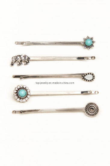 Elephant and Turquoise Hair Clip Set Fashion Diamond Hair Accessories pictures & photos