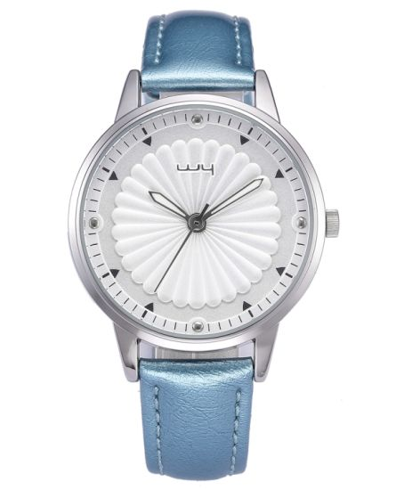 Luxury Women Handmade Leather Diamond Casual Flower Wrist Watch Wy-058