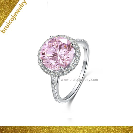 db8be2cd9deb6 Wholesale 18K Gold Plated Sterling Silver Finger Ring Diamond Jewelry  Wedding Ring for Women