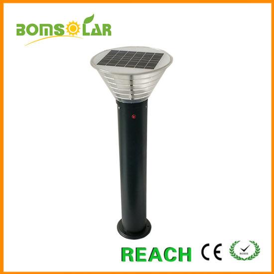 9W Stainless Steel Solar LED Garden Light, Solar Lawn Light/Solar Garden Lighting Dusk to Dawn, Solar Light for Patio and Garden
