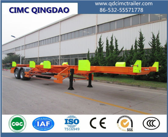 Cimc Port Yard 45FT Terminal Trailer 60 Tons for The Container Terminal pictures & photos