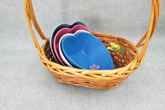 Heart Bamboo Fiber Bowl Wholesale All Kind of Color Bowl