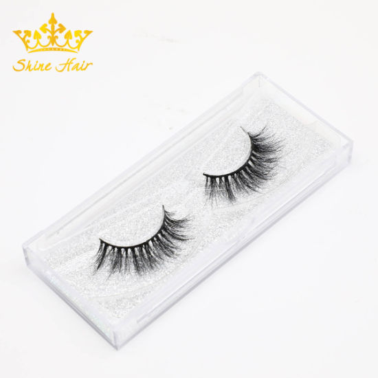 Handmade 3D Mink Lashes in Stock Factory Wholesale Strip Lashes Individual  Lashes