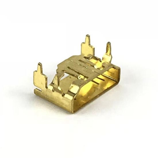 a/B Type Straight Double Insert USB Connector with Gold-Plating