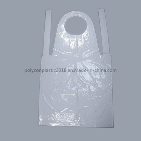 High Quality PE Plastic Disposable Aprons Accept Custom Order Disposable Bibs for Adult