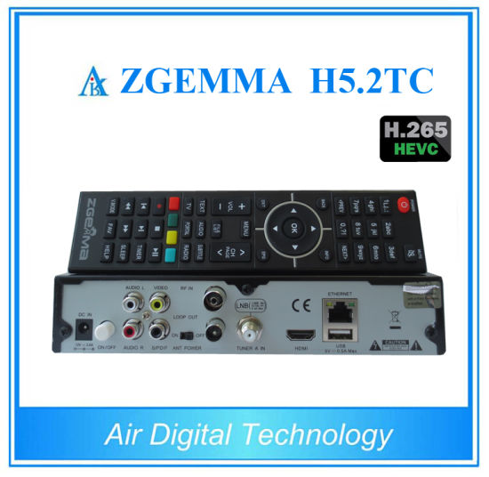 Hevc H. 265 Zgemma H5.2tc Combo DVB-S2+ 2*DVB-T2/C Free to Air Satellite TV Receiver pictures & photos