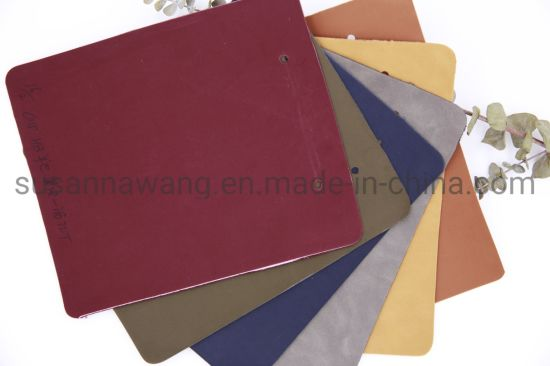 Bl1892 Imatation Yangbuck Synthetic Buffed PU Leather for Shoes&Bags&Sofa