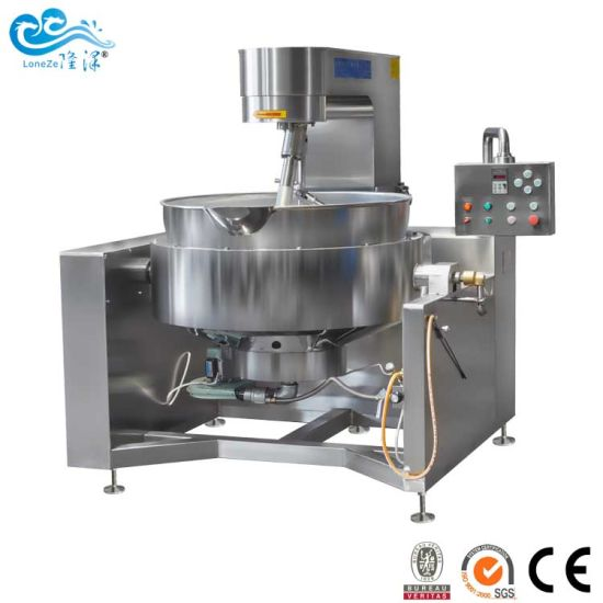 China Stainless Steel 304 Industrial Jacket Kettle with Agitator by Ce SGS Approved for Mung Bean Paste