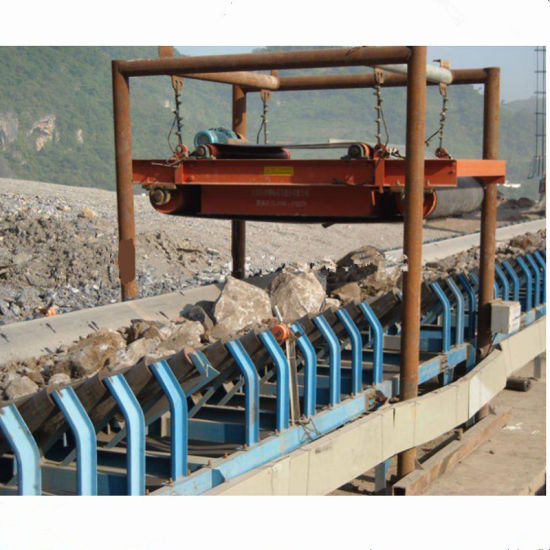 Over Belt Suspended Permanent Iron Removing Machine Magnetic Separator Price