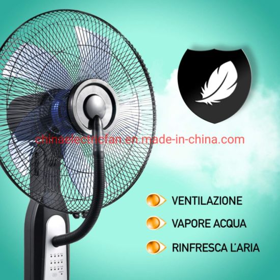 Water Spray Fans 16 Inch Electric Cooling Mist Stand Fan