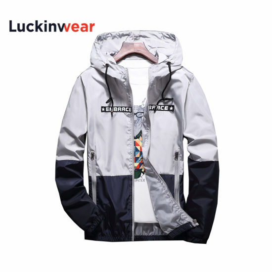 Custom Men Pullover Zipper Hoodie Men Workout Jacket