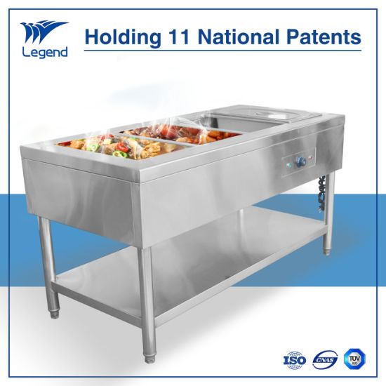 Electric Stainless Steel Buffet Hot Food Table For Restaurant