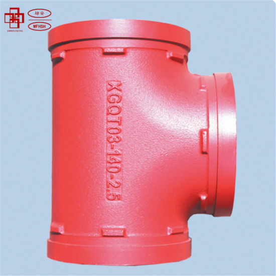 Ductile Iron Grooved Pipe Fittings Equal Tee/ Grooved Reducing Tee/ Threaded Reducing Tee for Fire Protection System
