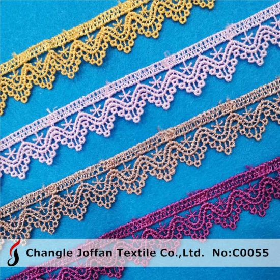 Dyed Embroidery Polyester Chemical Lace Trim for Dress Decoration (C0055)
