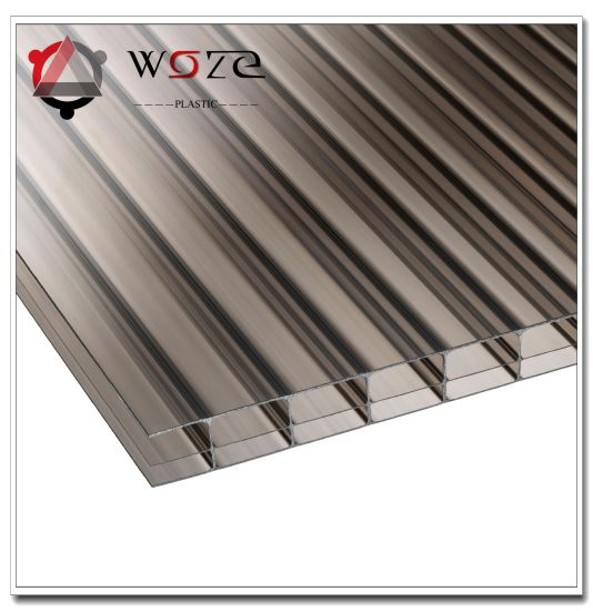 High Quality Triple-Wall Colored Poly Carbonate Hollow Sheet for Garden Skylight