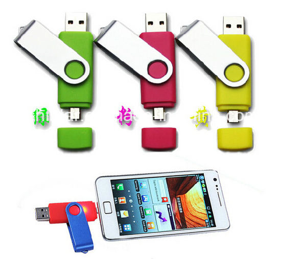 USB2.0 Flash Disk Plastic Swivel USB Flash Memory USB Stick Phone USB Flash Drive pictures & photos
