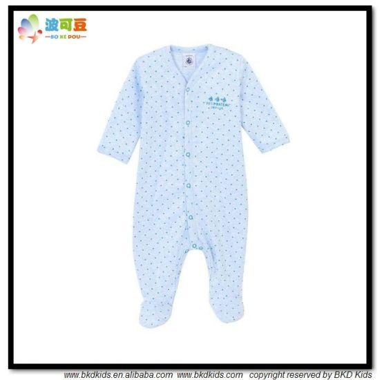 DOT Printing Baby Garment OEM Service Infant Jumpsuit