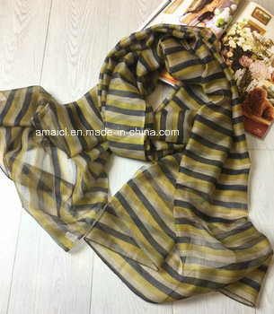 70% Wool 30% Silk Stoles/Shawls Scarf OEM Supplier (AXH74564000) pictures & photos
