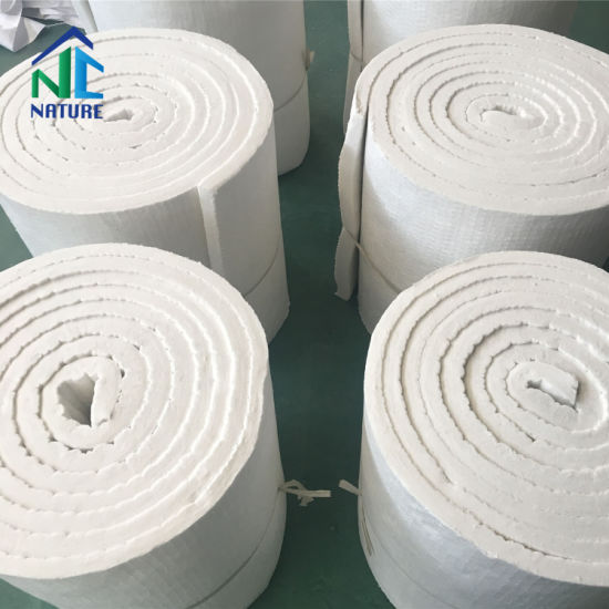 96kg/M3 128kg/M3 1260st 1350ha 1430Hz, 7200*610*25mm Bio Soluble Ceramic Fibre Blanket for Furnace Insulation Panels, Ceramic Fiber Blanket Thermal Insulation pictures & photos