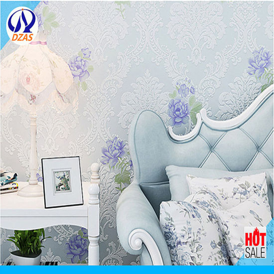 South Korea Imports Non Woven Wallpaper Bedroom Warm Romantic Foaming Dandelion Home Living Room Bedroom Background Wall