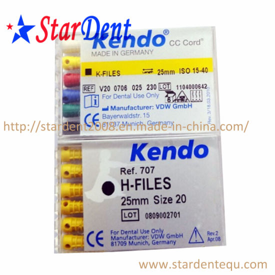 Vdw Dental Kendo Files Root Canal Files (K-files, H-files, Reamers) pictures & photos