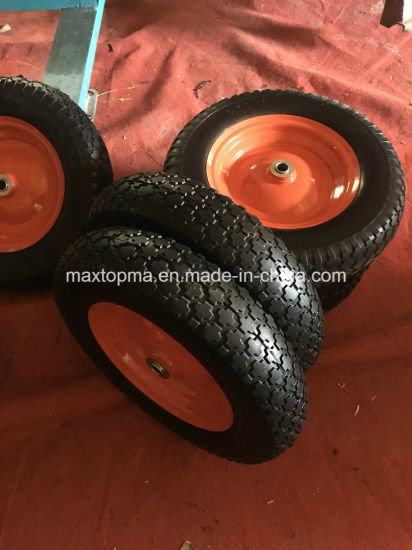 650-8 Maxtop Rubber Flat Free PU Foam Wheel pictures & photos