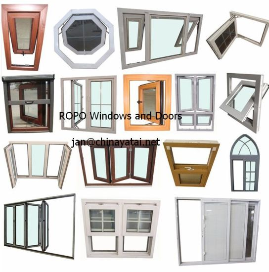 China Woodgrain UPVC/PVC Arch Window Grill Design Hinge