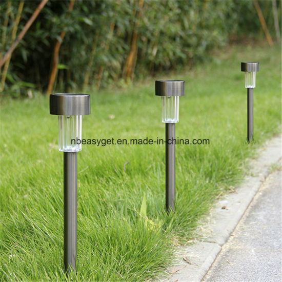 5 x STAINLESS STEEL SOLAR LIGHTS POWERED GARDEN POST PATH COLOR LED LAWN PATIO
