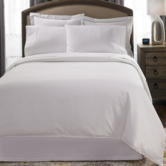 The Luxury Hotel Collection Best Egyptian Cotton Sateen Stripe Bed Linen,  Queen