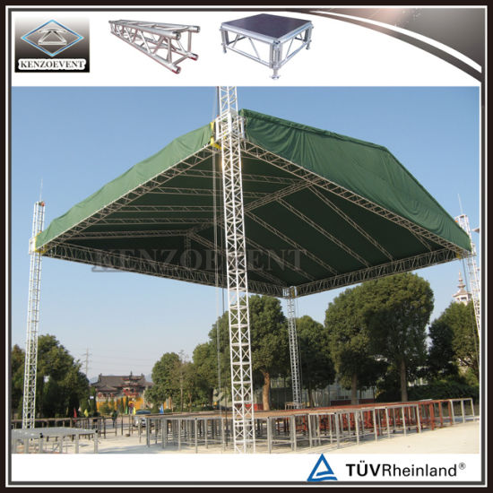 Concert Stage Truss Aluminum Roof Truss System with Roof Canopy & China Concert Stage Truss Aluminum Roof Truss System with Roof ...